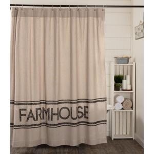 Sawyer Mill Charcoal Farmhouse Shower Curtain