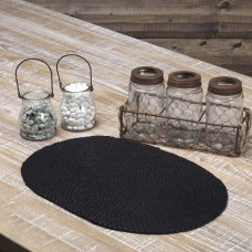 Black Jute Placemat Set