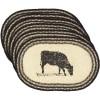 Sawyer Mill Cow Jute Placemat Set