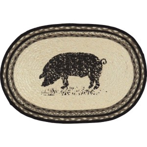 Sawyer Mill Pig Jute Placemat Set