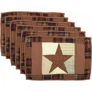 Abilene Star Quilted Placemat Set