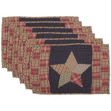 Arlington Quilted Patchwork Star Placemat Set