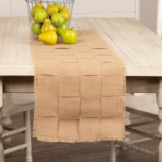Jute Burlap Basket Weave Table Runner