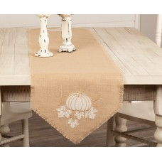 Jute Burlap Pumpkin Table Runner
