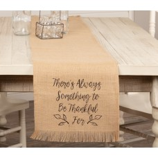 Jute Burlap Thankful Table Runner