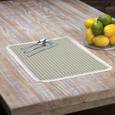 Kendra Green Stripe Placemat Set