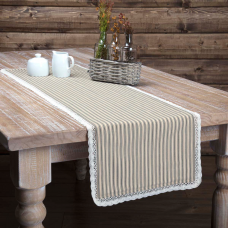 Kendra Black Stripe Table Runner