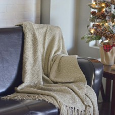 Scarlett Creme Woven Throw
