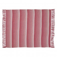 Whimsical Candy Cane Stripe Woven Throw