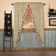 Abilene Star Long Prairie Curtain Set