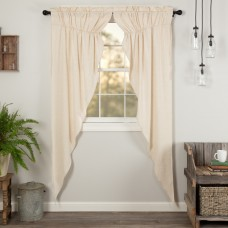 Simple Life Flax Natural Long Prairie Curtain Set