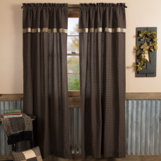 Kettle Grove Panel with Attached Block Border Valance Set