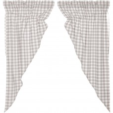 Annie Buffalo Grey Check Prairie Curtain Set