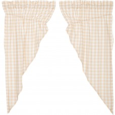 Annie Buffalo Tan Check Prairie Curtain Set