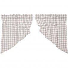 Annie Buffalo Grey Check Prairie Swag Set