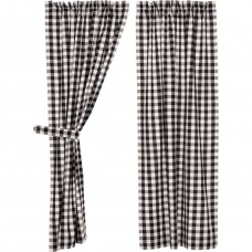 Annie Buffalo Black Check Short Panel Set
