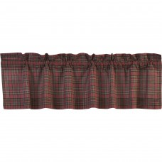Tartan Red Plaid Valance 60""