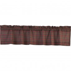 Tartan Red Plaid Valance 72""