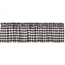 Annie Buffalo Black Check Valance 72""