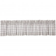 Annie Buffalo Grey Check Valance 90""
