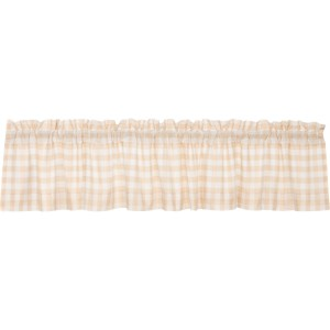 Annie Buffalo Tan Check Valance 90""