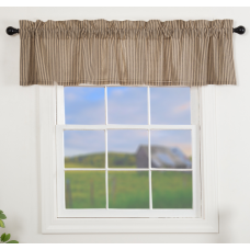 Sawyer Mill Charcoal Ticking Stripe Valance 72""