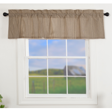 Sawyer Mill Charcoal Ticking Stripe Valance 60""