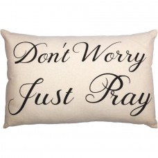 Casement Natural Don't Worry Just Pray Pillow