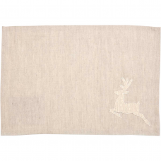 Creme Lace Deer Placemat Set