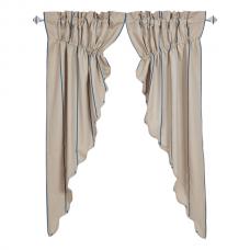 Charlotte Azure Prairie Curtain Set