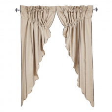 Charlotte Slate Prairie Curtain Set