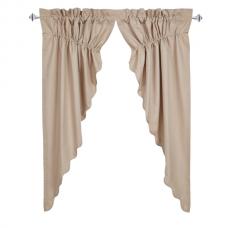 Charlotte Solid Natural Prairie Curtain Set