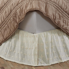 Willow Creme Bed Skirt