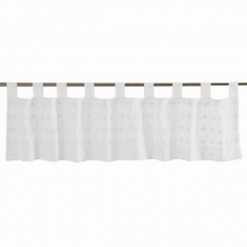 """Willow White Tab Top Valance 72"""""""