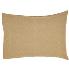 Burlap Natural Pillow Case Set