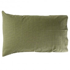 Tea Cabin Green Plaid Pillow Case Set