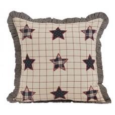Bingham Star Pillow with Applique Stars