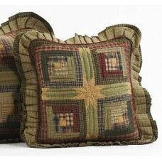 Tea Cabin Quilted Pillow