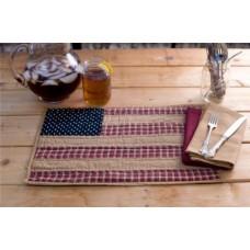 Patriotic Patch Placemat Set