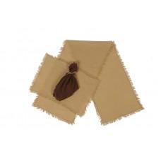 Tobacco Cloth Khaki Table Runner