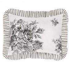 Josephine Black Fabric Pillow 14x18