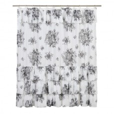 Josephine Black Shower Curtain
