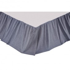 Chambray Star Bed Skirt