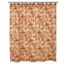 Elaine Rouge Shower Curtain