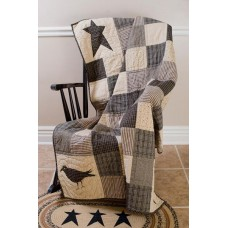 Kettle Grove Quilted Crow and Star Throw