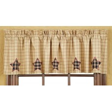 Bingham Applique Star Valance
