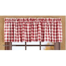Buffalo Red Check Valance