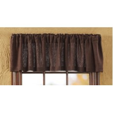 Burlap Chocolate Valance