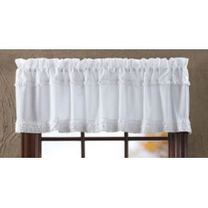 "White Ruffled 72"" Sheer Valance"