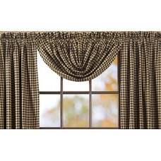 Black Check Balloon Valance